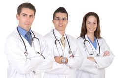 Friendly medical team - Healthcare workers. Over a white background Royalty Free Stock Photography