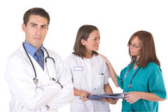 Friendly medical team - Healthcare workers Stock Photography