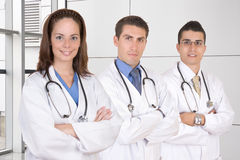 Friendly medical teamwork. Healthcare workers Royalty Free Stock Images