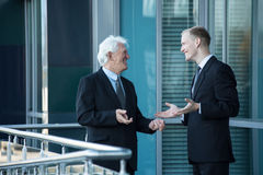 Friendly meeting royalty free stock images