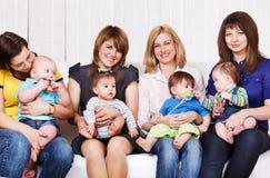 Friendly moms royalty free stock photos