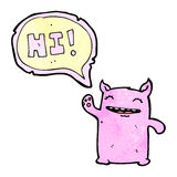 friendly monster cartoon Royalty Free Stock Photography