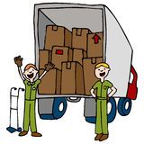 Friendly Moving Company royalty free illustration