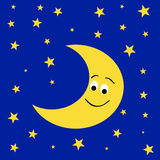 Friendly mr moon Royalty Free Stock Photo