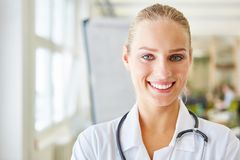 Friendly nurse in apprenticeship Royalty Free Stock Image