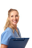 Friendly nurse or doctor Stock Images