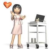 Friendly nurse is smiling. Stock Image