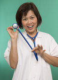 Friendly Nurse with stethoscope Stock Photography