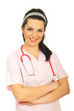 Friendly nurse woman Royalty Free Stock Photography