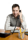 Friendly office worker on the phone Stock Image
