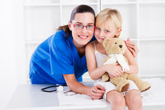 Friendly paediatrician Stock Photos