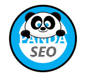 Friendly Panda SEO Logo Brand Badge Design Royalty Free Stock Images