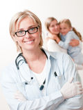 Friendly pediatrician Stock Image