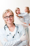 Friendly pediatrician Stock Photography
