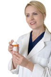 Friendly pharmacist Stock Images