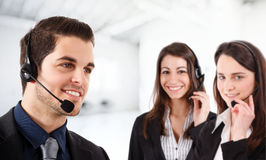 Friendly phone operator Royalty Free Stock Images