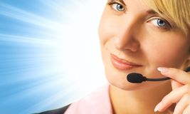 Friendly Phone Operator Royalty Free Stock Photo