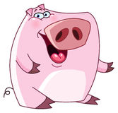 Friendly pig. Illustration of a friendly pig Royalty Free Stock Photography