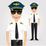 Friendly pilot with sunglasses Stock Photography