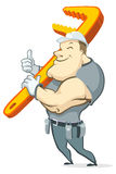 Friendly Plumber Stock Images