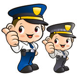 Friendly Police Officer Character Stock Image
