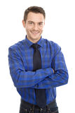 Friendly professional man - isolated on white Stock Photo