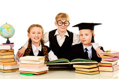 Friendly pupils Royalty Free Stock Photography
