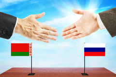 Friendly relations between Belarus and Russia Royalty Free Stock Image