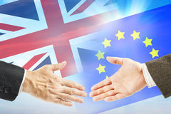Friendly relations between European Union and Great Britain Royalty Free Stock Photos