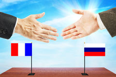 Friendly relations between France and Russia Stock Photography