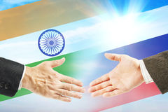 Friendly relations between India and Russia Royalty Free Stock Images