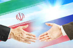 Friendly relations between Iran and Russia Royalty Free Stock Photos
