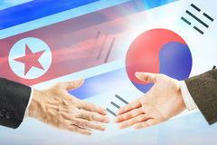 Friendly relations between North and South Korea Royalty Free Stock Photos