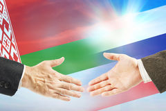 Friendly relations between Russia and Belarus Royalty Free Stock Photos