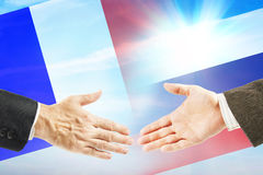 Friendly relations between Russia and France Royalty Free Stock Photos