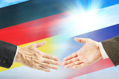 Friendly relations between Russia and Germany. International policy and diplomacy Royalty Free Stock Photography