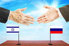 Friendly relations between Russia and Israel Stock Photo