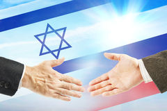 Friendly relations between Russia and Israel Royalty Free Stock Image
