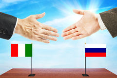 Friendly relations between Russia and Italy Stock Photography