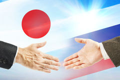 Friendly relations between Russia and Japan Stock Photos