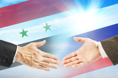 Friendly relations between Russia and Syria Stock Photo