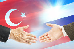 Friendly relations between Russia and Turkey Stock Photos