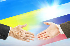 Friendly relations between Russia and Ukraine Royalty Free Stock Image