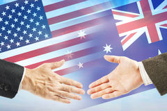 Friendly relations between United States and Australia Stock Photography