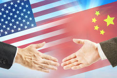Friendly relations between United States and China Stock Photo
