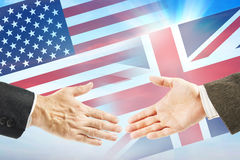 Friendly relations between United States and Great Britain Royalty Free Stock Photos
