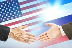 Friendly relations between United States and Russia Royalty Free Stock Images