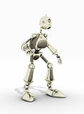 Friendly robot. A friendly robot with a smile isolated on white Stock Image