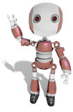 Friendly robot boy waving greeting hello Royalty Free Stock Photo
