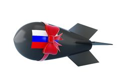 Friendly Russia gift bomb. On a white background Royalty Free Stock Photos